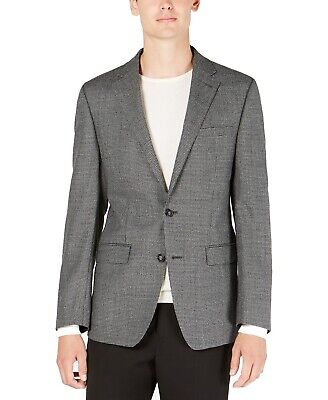 Calvin Klein Mens Suit Separates Gray Size 40 Two Button Houndstooth $350 055