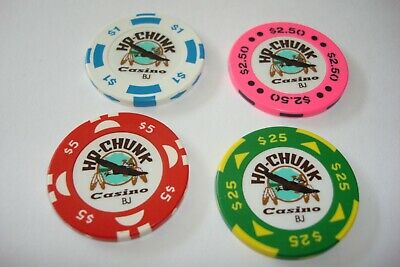 4 - Chips  from the Ho-Chunk Casino Baraboo Wisconsin