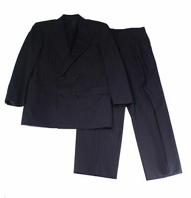 Hickey Freeman NEW Blue Mens Size 39R Pinstriped Double Breasted Suit $1695 019