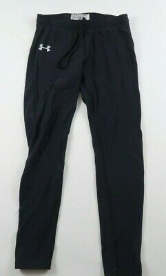 Under Armour Boys Girls Stretch Nylon Black Fitted Activewear Pants No Tag XL?