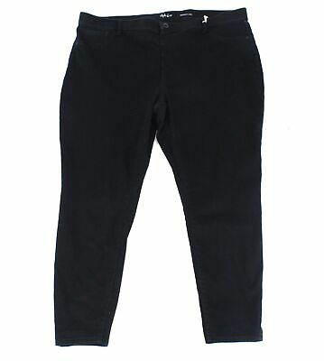 Style & Co. Womens Jeans Black Size 14W Plus Stretch Pull On Skinny Leg $59 126