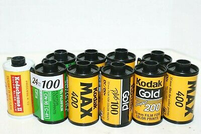 10 Rolls of Exposed Color 35mm Film