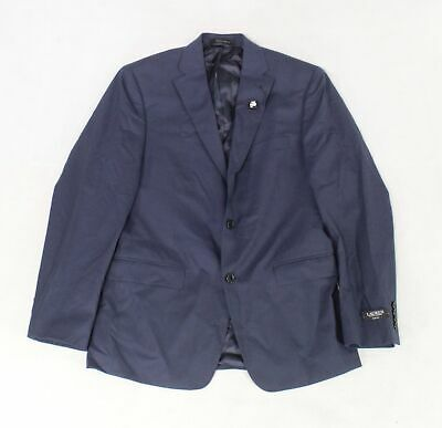 Lauren By Ralph Lauren Mens Blazer Navy Blue Size 40 Two Button Wool $450 #014