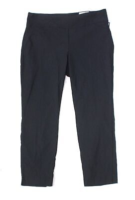 Charter Club Womens Pants Blue Size 20W Plus Short Slim-Leg Stretch $79 194