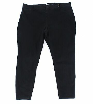 Style & Co. Womens Jeans Black Size 22W Plus Skinny Pull-On Stretch $59 237