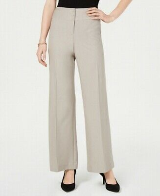 Style & Co. Womens Pants Beige Size 8P Petite Mid-Rise Wide Stretch $49 762