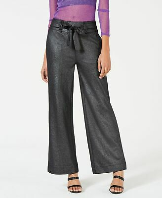 XOXO Womens Dress Pants Black Size XS Tie-Waist Wide-Leg Trousers $59 245