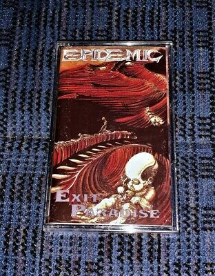 Thrash/Death Metal. Epidemic - Exit Paradise VG Cassette Tape Played/Tested Rare