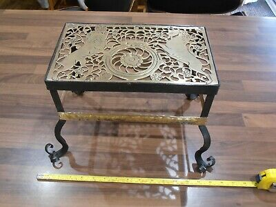 Vintage Wrought iron and Brass Arts & Crafts Fireside Trivet