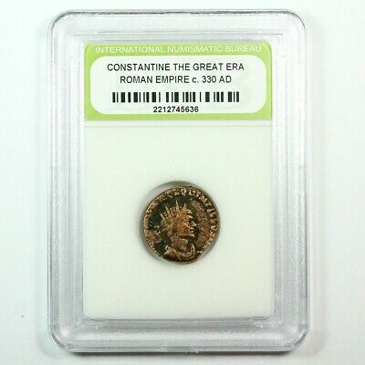 Slabbed Ancient Roman Constantine the Great Coin c. 330 AD Exact Coin Shown 6340