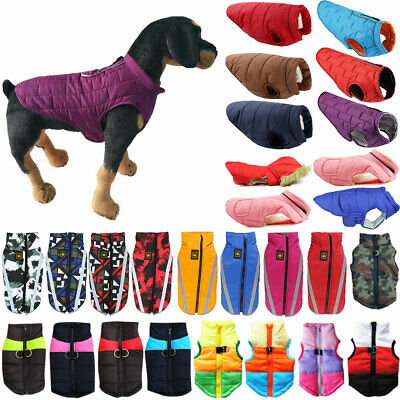 Puppy Pet Dog Waterproof Jacket Padded Vest Costume Puffer Winter Coat Clothes