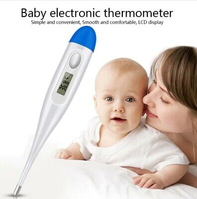 Digital Thermometer Medical LCD Display Oral Ear Underarm Audible Fever Alarm