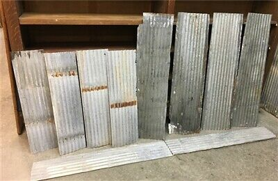 10 Galvanized Tin Sheets, Roof Ceiling Sink Backsplash, Architecture Salvage a,