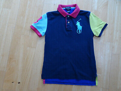 RALPH LAUREN POLO boys block colour t shirt top AGE 10 - 11 YEARS ( 10 - 12 )