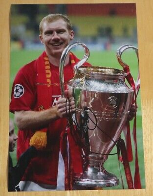 Paul Scholes Manchester United Personally Hand Signed Autograph 12X8 Photo