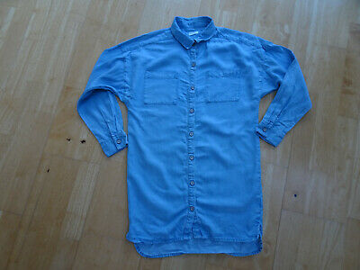 NEXT girls light blue denim long sleeve shirt dress AGE 9 YEARS EXCELLENT