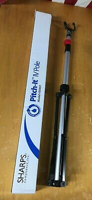"SHARPS Pitch-It IV POLE Telescoping Tripod Model 30007 Adjustable Up to 56"" Tall"
