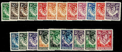 NORTHERN RHODESIA SG25-45, COMPLETE SET, LH MINT. Cat £250.