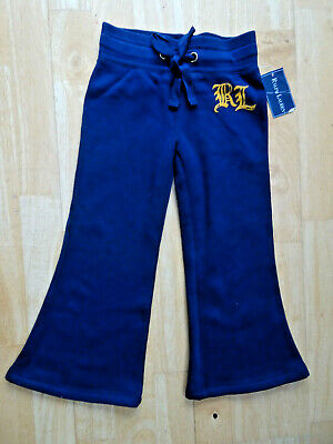 RALPH LAUREN girls navy blue tracksuit trousers AGE 2 - 3 YEARS 3T AUTHENTIC