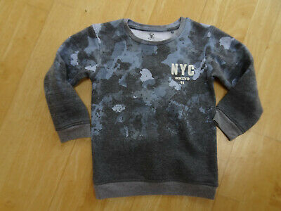RIVER ISLAND boys blue camouflage sweatshirt jumper AGE 3 - 4 YEARS EXCELLENT