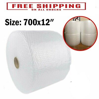 "Bubble Cushioning Wrap Small Padding 3/16"" 700 ft. x 12"" Perforated Every 12"" US"