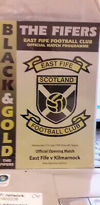 EAST FIFE v KILMARNOCK FIRST @ NEW BAYVIEW STADIUM RARE 1999/0