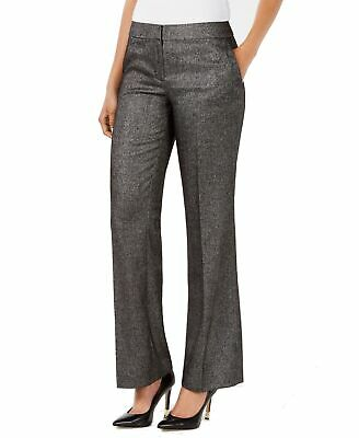 Nine West Women's Gray Size 4 Straight Leg Mid-Rise Dress Pants Stretch $89 #392