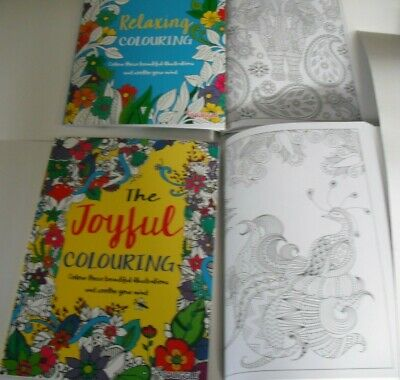 Colour Therapy Anti-Stress Adult Colouring Books;-Choice of 2.