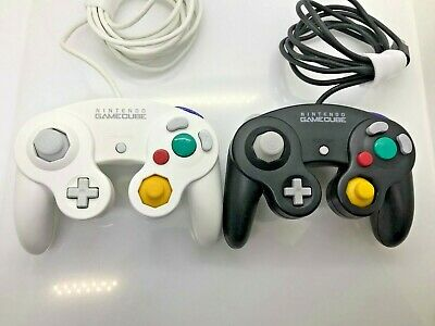 Official / Genuine Nintendo Gamecube Controller BLACK and white japan Set