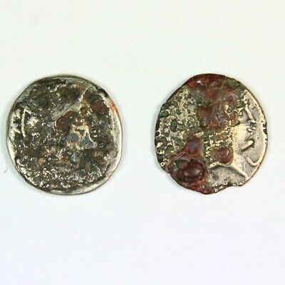 Two (2) Ancient Roman Republic Silver Denarius c. 300 - 27 BC Exact Lot 6687