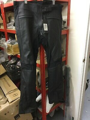 Triumph Ladies Kate Black Leather Jeans NEW Size L