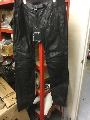 Triumph Cara Ladies Black Leather Jeans NEW Size XL