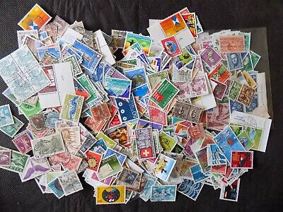 Switzerland Packet Most Used  Early-2014 Ex Charity Unsorted 100S Off Paper
