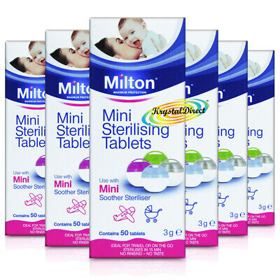 6x Milton Mini Sterilising 50 Tablets For Maximum Protection