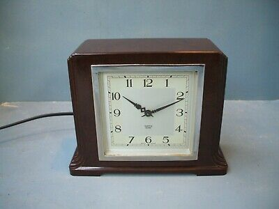 SMITHS SECTRIC Bakelite Mid Century Vintage Electric Clock Art Deco G.W.O.