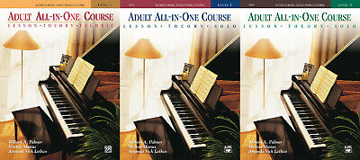 Alfred's Basic Adult All-in-One Course Collection 1-2-3 - Learn How to Play