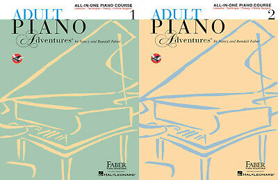 Adult Piano Adventures All-in-One Piano Course Collection 1-2 With Audio & Video
