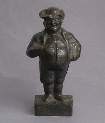Antique ROTUND Cast Iron GENTLEMAN with Book/Bible DOORSTOP Preacher/Lawyer