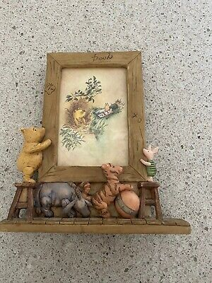 DISNEY Classic 1990's Winnie the Pooh Eeyore Piglet CHARPENTE Picture Frame