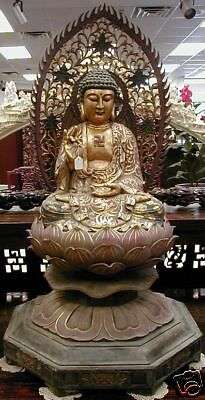 19th Century Antique Chinese Gilded Healing Buddha 51""