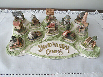 12 DAVID WINTER  Cottages/Cameos on original Base - Original Boxes  Excellent