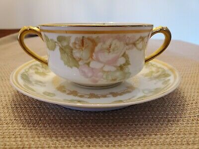 Haviland Cup and Saucer made for Bailey Banks and Biddle