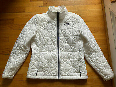 The North Face White Quilted Jacket Women's Medium M