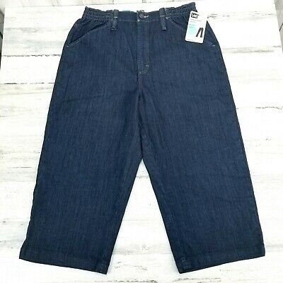 Mom High Rise Lee at the Waist Relaxed Fit Stretch Cropped Capri Jeans Size 12 M