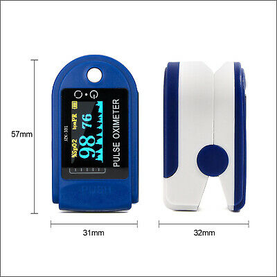 Digital Fingertip Pulse Oximeter Blood Oxygen Meter SPO2 Monitor
