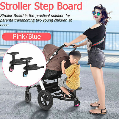 Buggy Stroller Step Board Stand Toddler Child Kids Wheeled Pushchair Connector