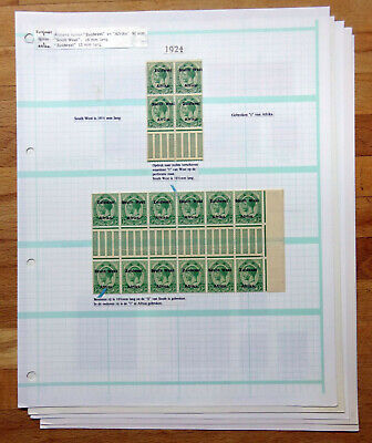 SOUTH WEST AFRICA SWA KGV 1924 Setting IV SG29-39 Gutter Errors/Varieties, etc.