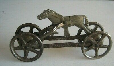 Antique Cast Iron Horse Bell Pull Toy #E638 Cast Iron Awsome!