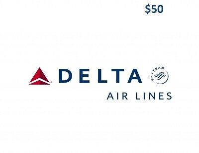 Delta Airlines $50 gift card Fast Shipping