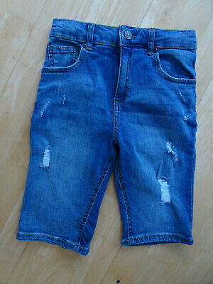 RIVER ISLAND boys blue denim distressed detail jeans shorts AGE 9 - 10 YEARS